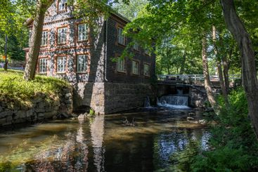 The idyllic river and the Mill in Fiskars village