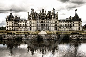 Chambord castle old style