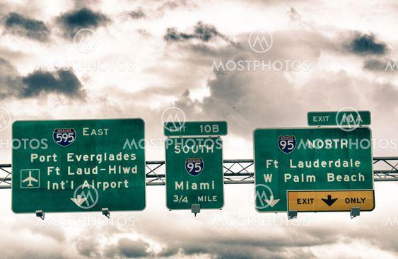 Road Sign i Miami-Dade County
