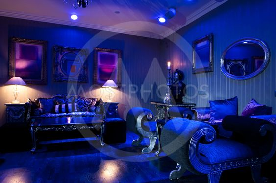Luxury hotel bar interior