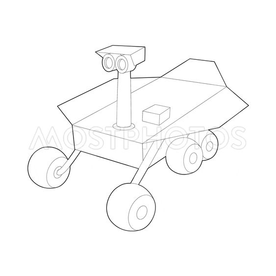 Mars Exploration Rover Icon By Ylivdesign
