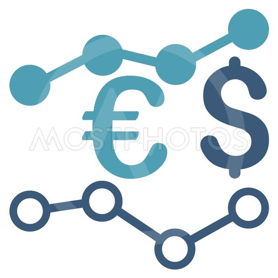 Currency Charts Flat Vector Icon