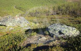 Boulders at Slope of Nuolja in Northern Sweden
