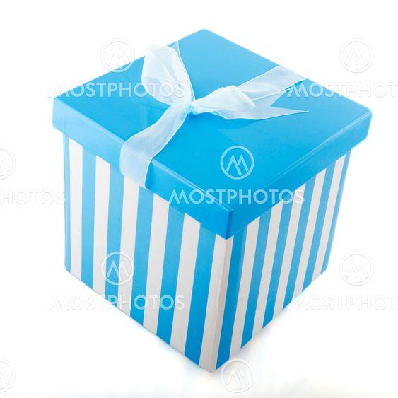 Blue striped present