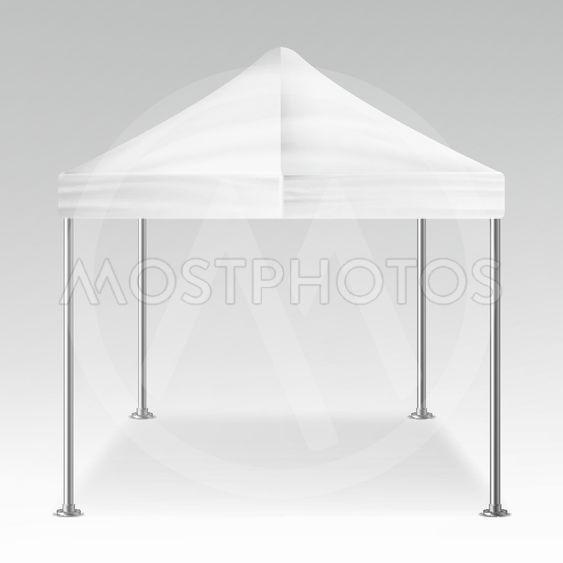 White Folding Tent Outdoor Pavilion Vector