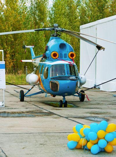 Upgraded Mi-2MSB ( MSB-2) helicopter.