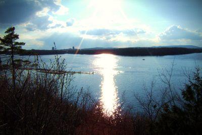Sunset light reflection