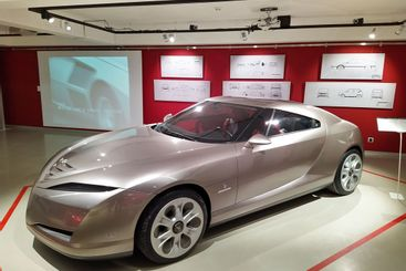 Bertone cars at the exhibition
