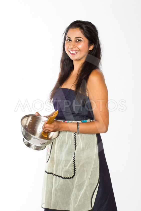 Smiling Indian Woman with Pasta