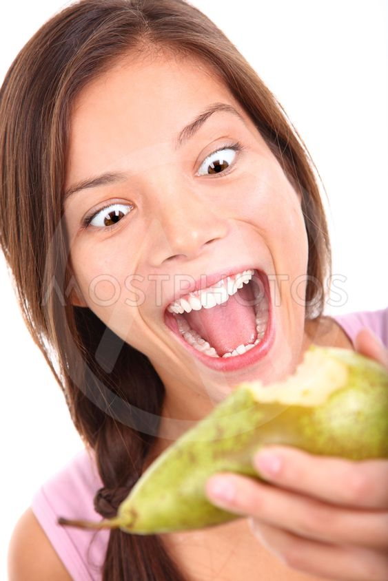 Funny fruit eating