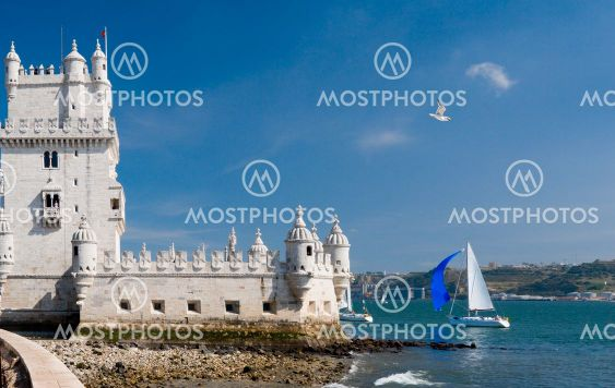 Belem tower and yacht