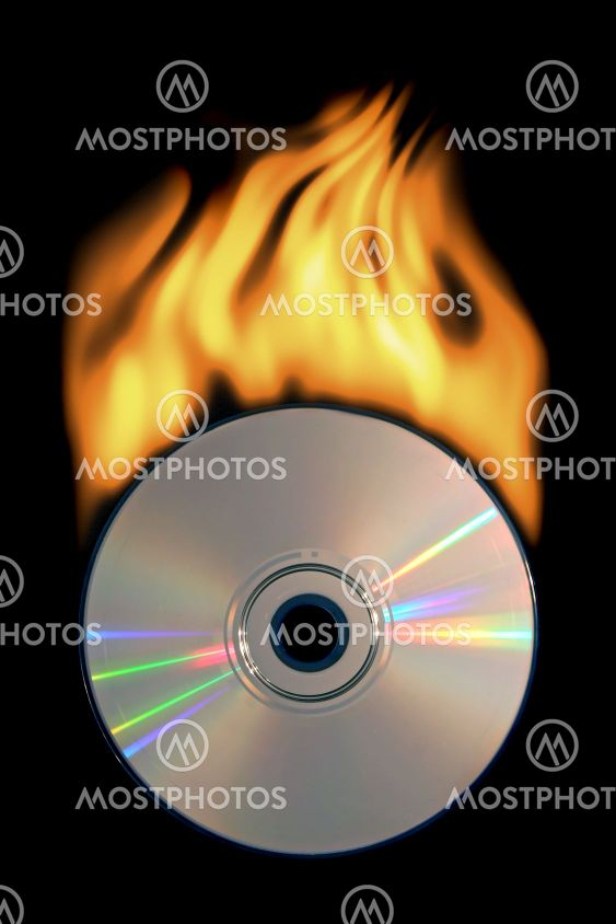 Burning compact disc
