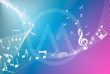 abstract background of music notes