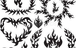 Flame silhouettes