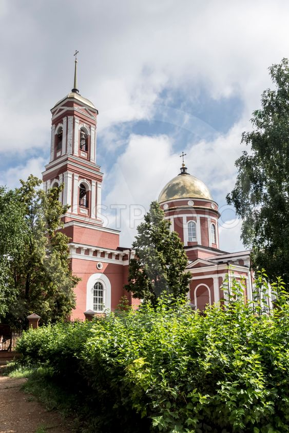The City Of Birsk. The building of the bell tower and...