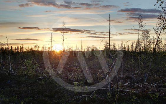 High dynamic range image of sunset in Sweden