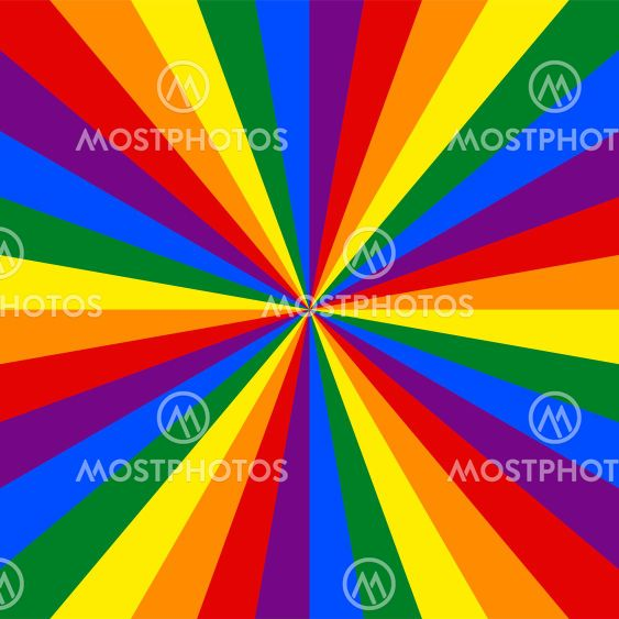 LGBT flag. Rainbow background.