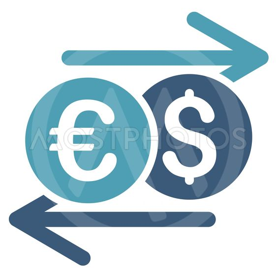 Currency Exchange Flat Vector Icon
