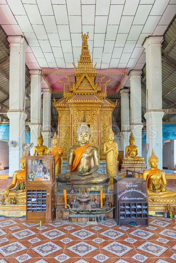 Buddhist temple Wat Phouang Keo in Muang Khong, Laos.