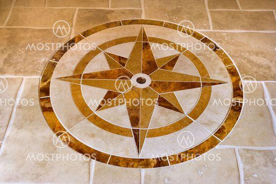 Floor with star shape.
