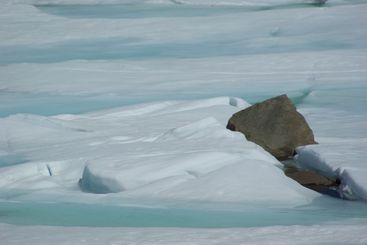 Blue Ice And Rocks