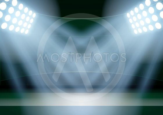 Background for posters night fencing stadium in the...