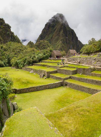 Ruins Buildings in Machu Picchu
