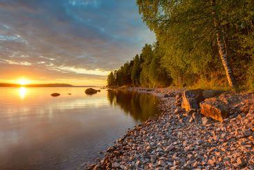Lake Siljan, Leksand kommun, Dalarna, Sweden
