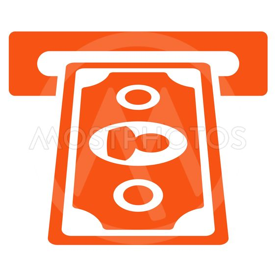 Cashpoint Terminal Flat Vector Icon