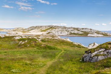 Landscape of the north-east coast of Finnmark in Norway