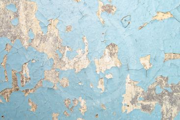 Texture of blue peeling wall. Background. Place for text.