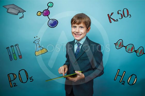 teacher boy chemistry teenage student businessman smiling...