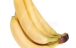 many yellow banana isolated