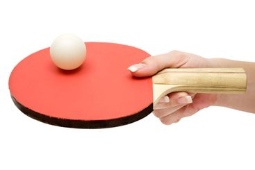 Holding a Ping-Pong Paddle
