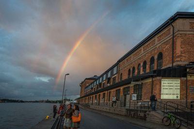 Regnbåge vid Fotografiska museet