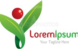 Shape your environment green icon simple elements logo