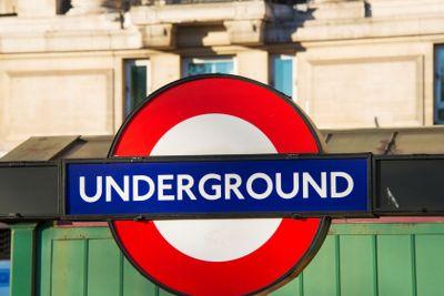 London underground symbol on street