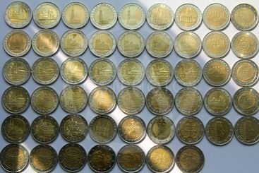 Euro coins from different countries
