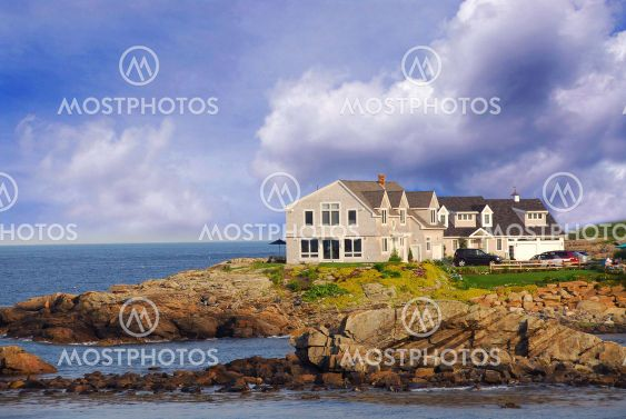 House on ocean shore
