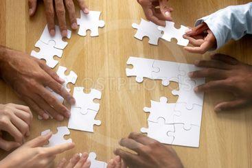 Teamwork concept, business team people hands assemble...
