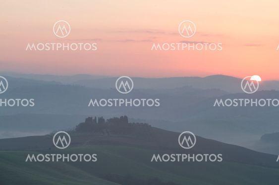 Tuscany morning in the Crete Senesi