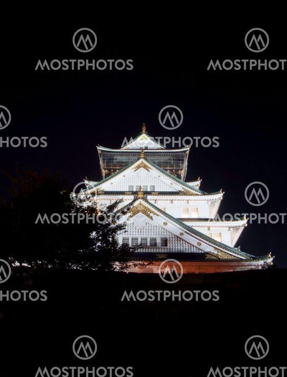 Osaka slott i japan