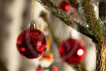 pyntad julgran, detalj