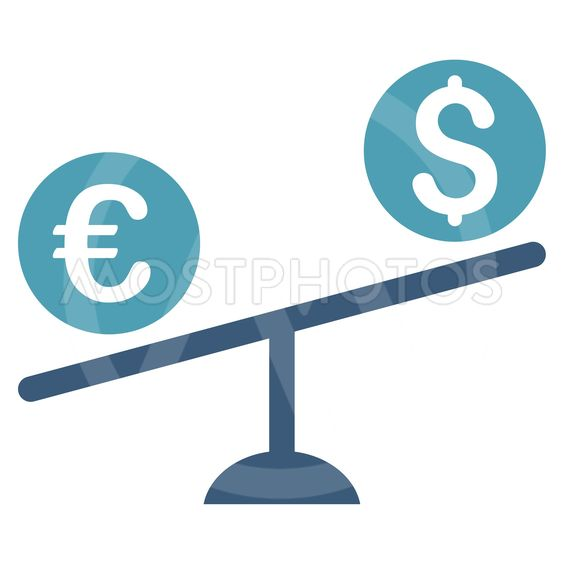 Currency Trade Swing Flat Vector Icon