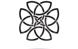 Celtic clover knot symbol vector illustration