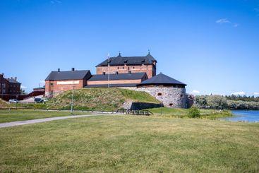 Häme castle in sunny summer day in Hämeenlinna, Finland.