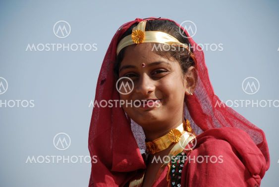 School Girl At Annual Camel Fair, Pushkar