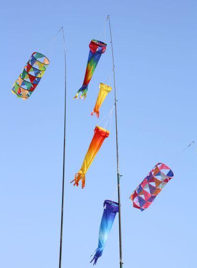 Colourful windsocks