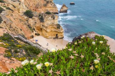 Praia do Camilo beach near Lagos, Algarve in Portugal