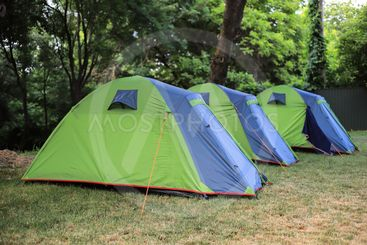 Camping tents on the camping area